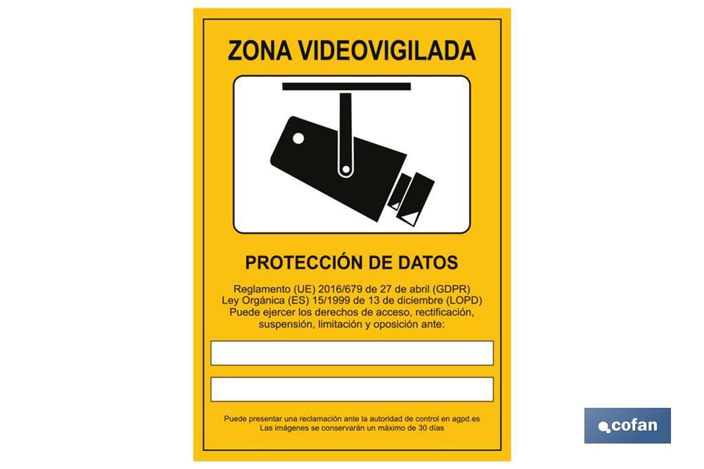 Señal de videovigilancia