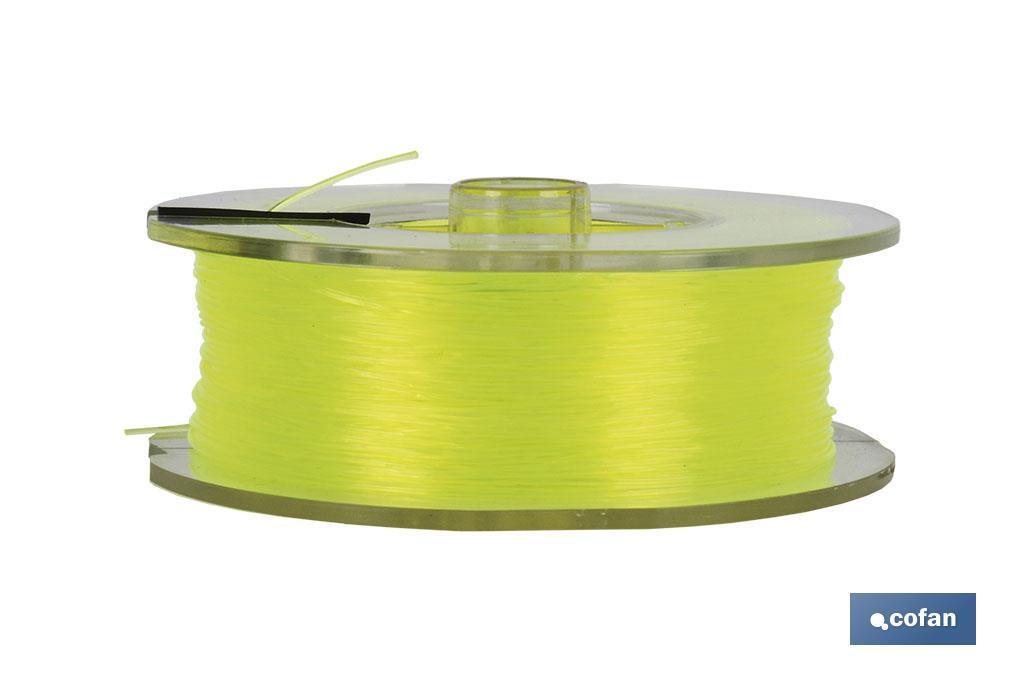Hilo de Sedal Monofilamento de Nylon 100% Amarillo