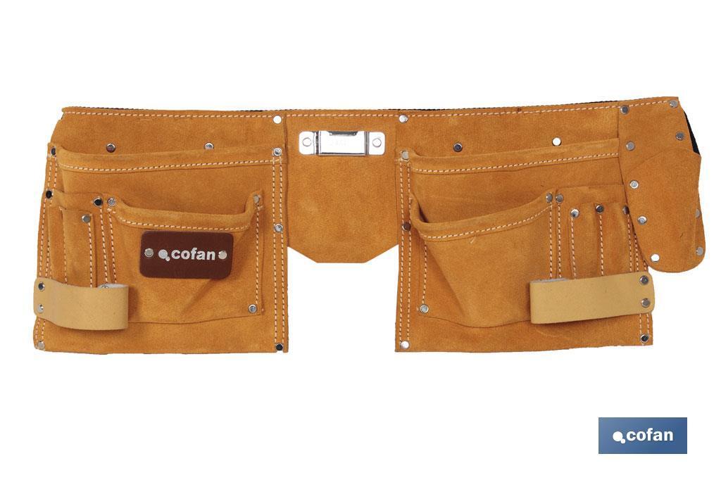Portaherramientas doble con cinturón (11 b)