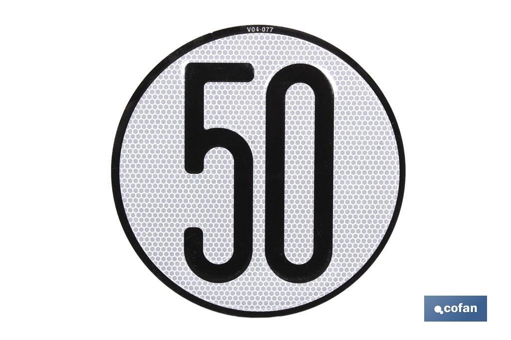 Disco V-4 limitación velocidad (50 km/h)