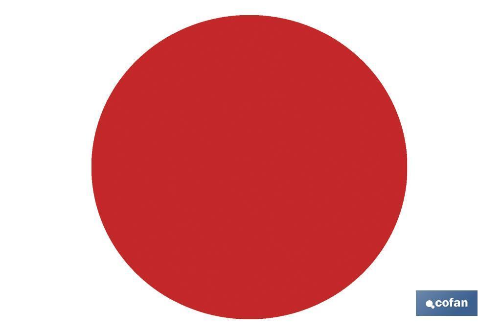 Circulos adhesivos Rojos