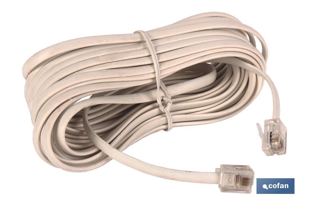 CABLE PLANO TELEFONO CON TOMAS
