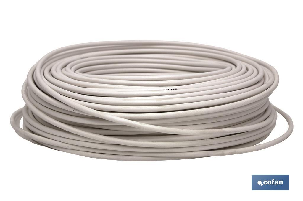 Cable Antena 75 Ohm BLANCO (100m)