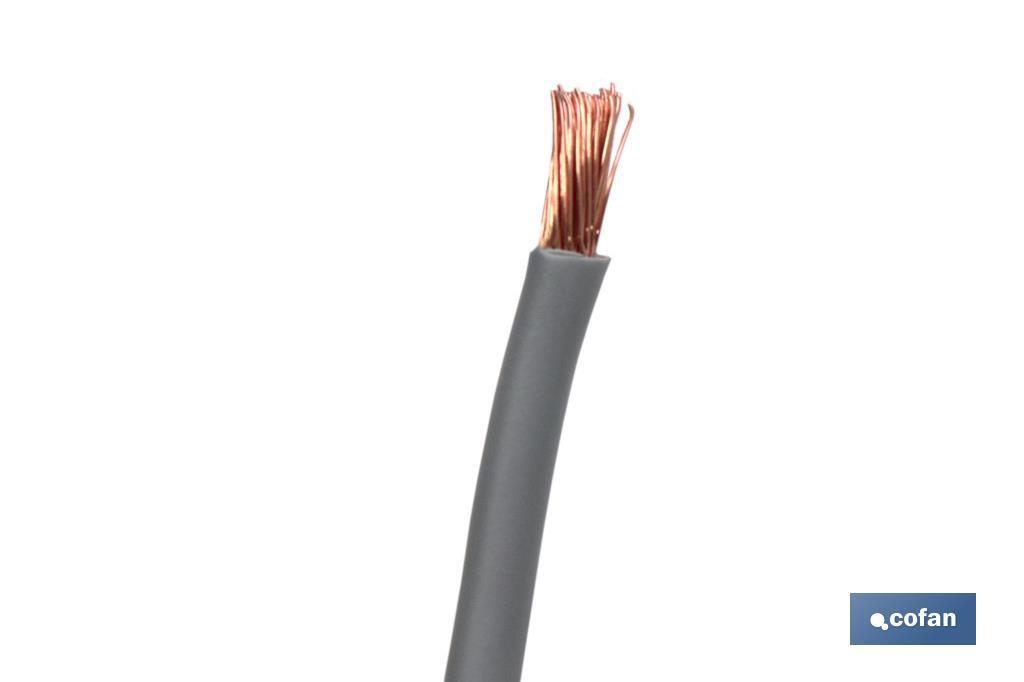 Cables H07V-K gris