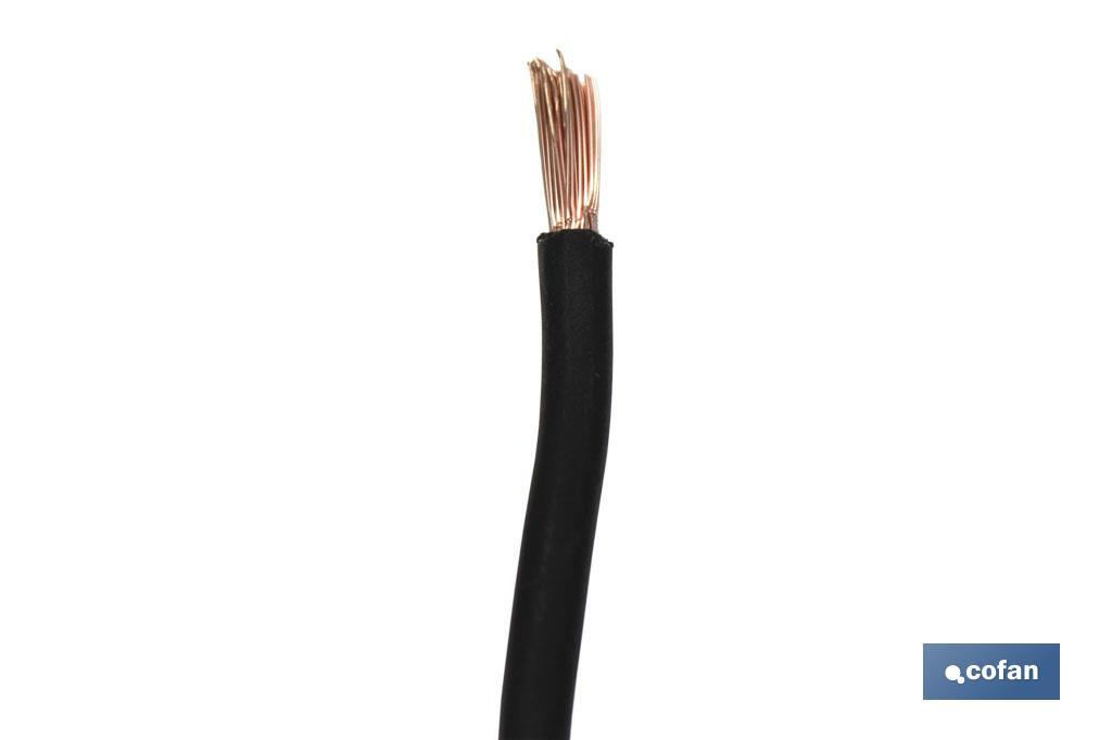 Cables H07V-K negro