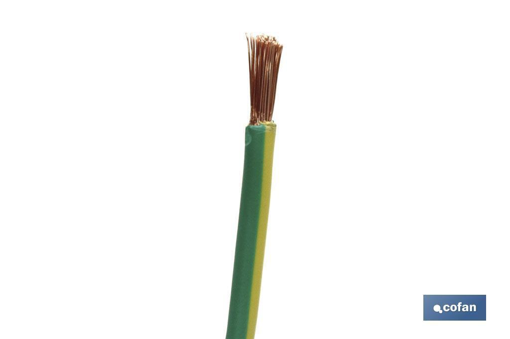 Cables H07V-K amarillo/verde