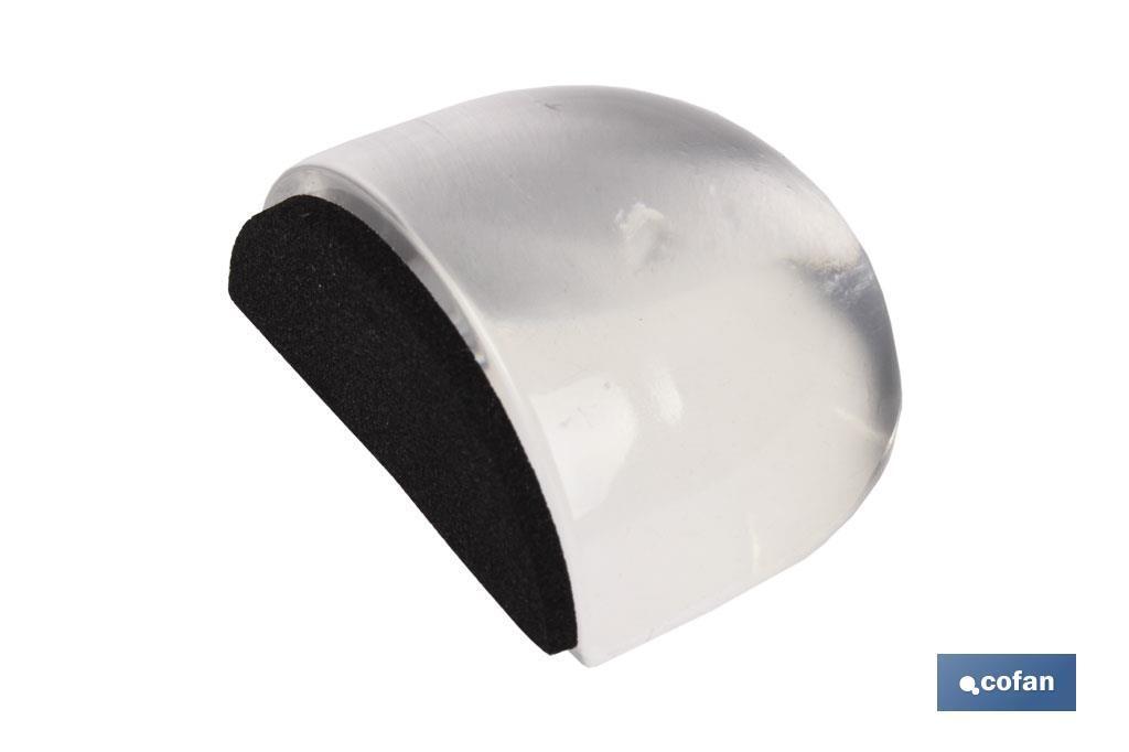 Tope adhesivo ovalado Metacrilato