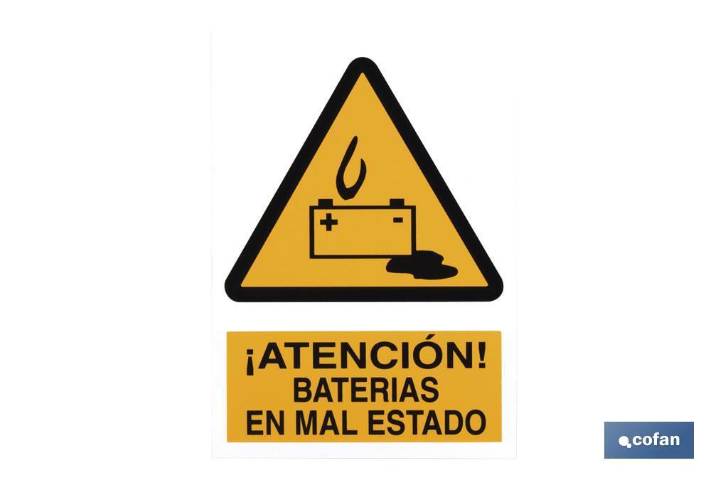 Baterías en mal estado