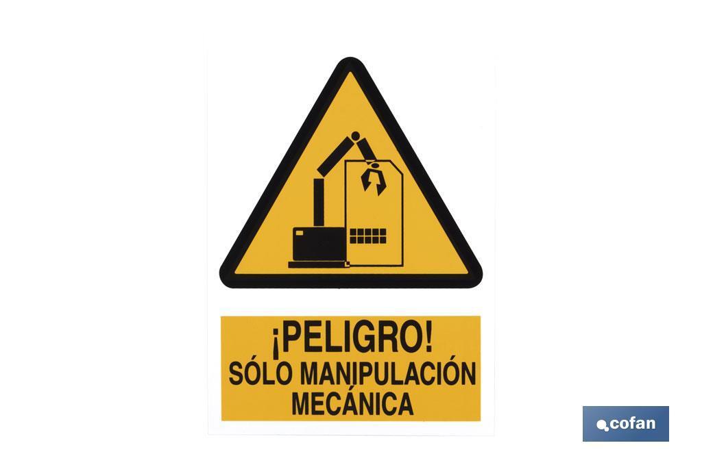 Peligro Manipulación Mecánica
