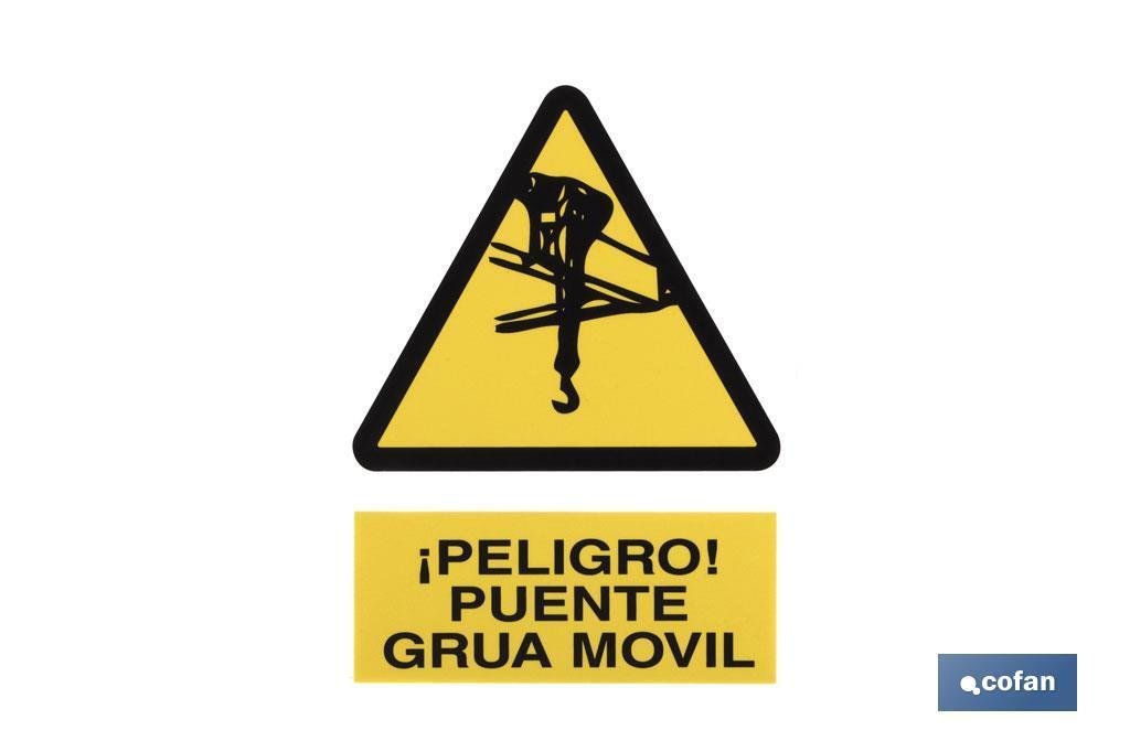 Peligro Puente grúa móvil
