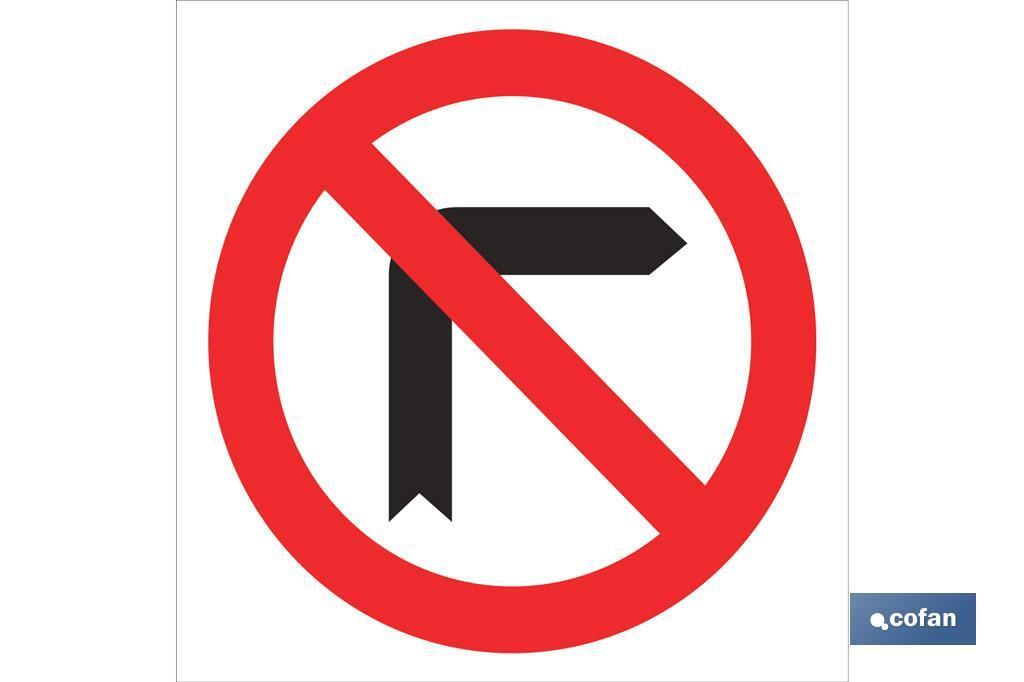 Prohibido girar derecha