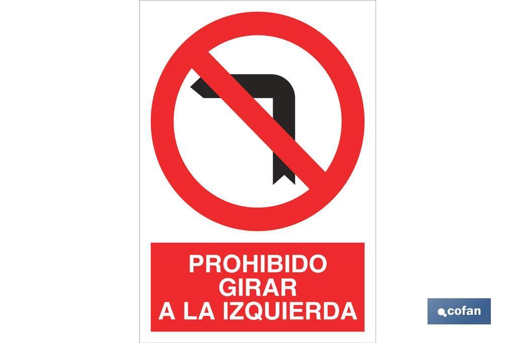 Prohibido girar a la izquierda