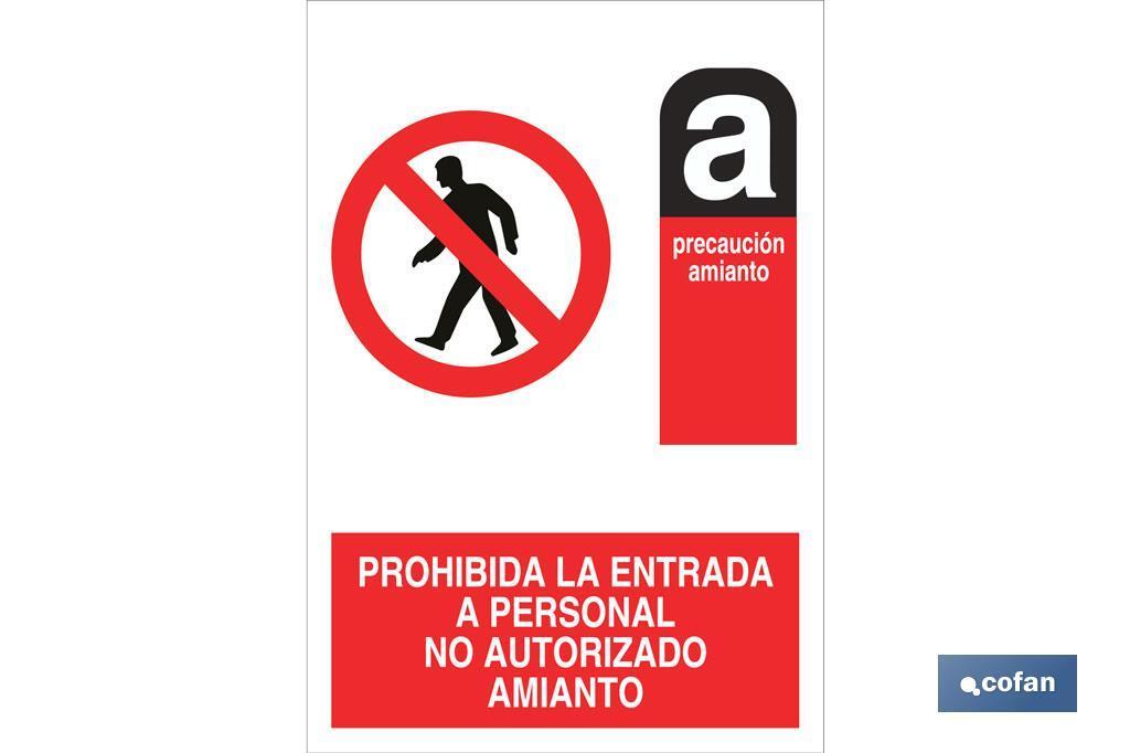 Prohibida la entrada Amianto