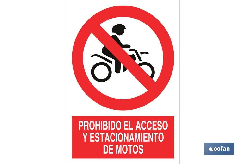 Prohibido acceso de motos