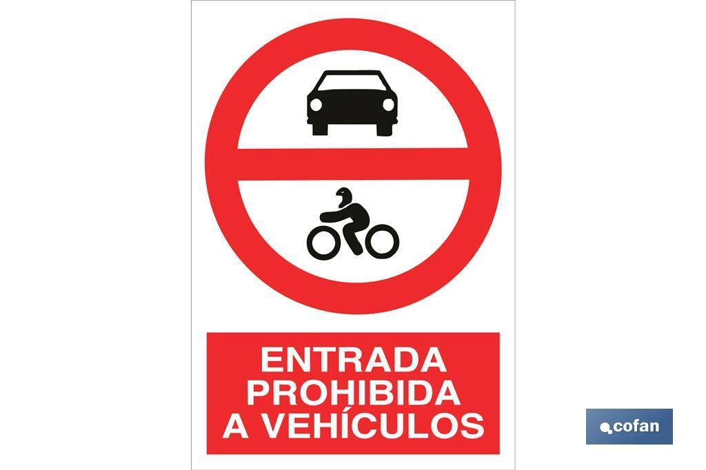Prohibido entrada a vehículos