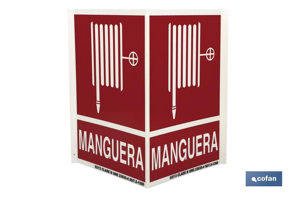 Señal Panorámica MANGUERA INCENDIOS