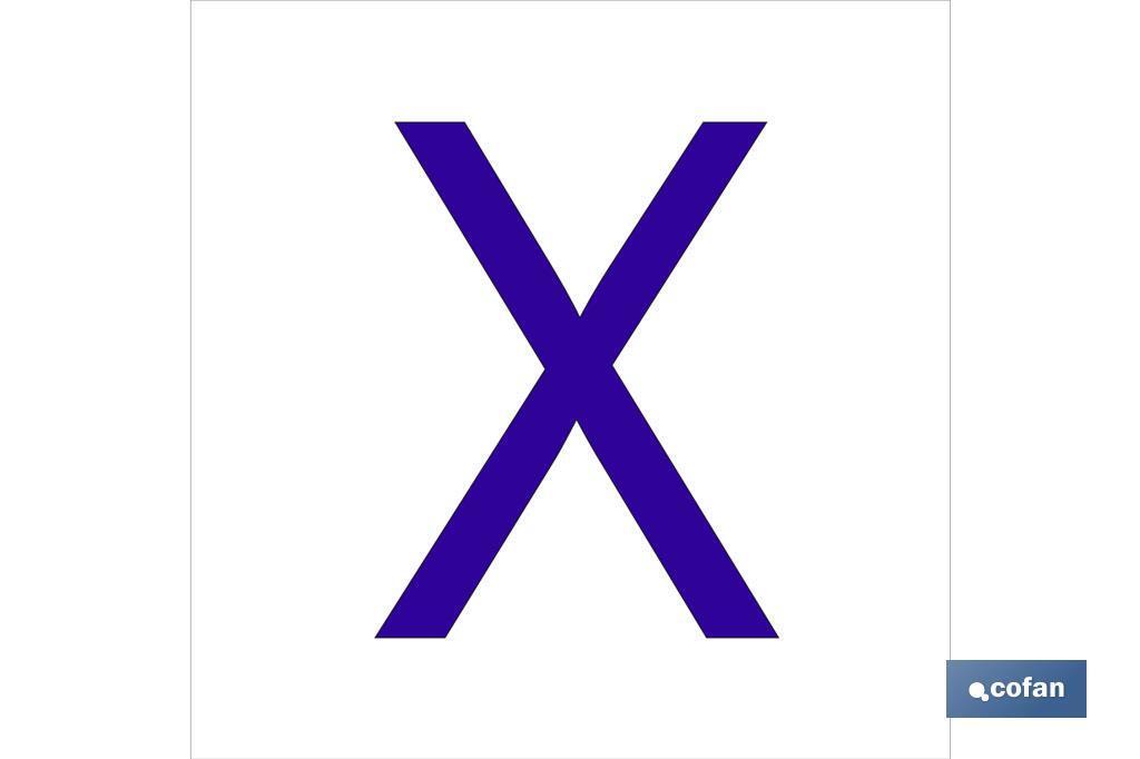 X Letra en glasspack